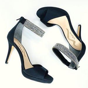 Nina Volanda Sparkly Beaded Ankle Strap Heels 🎉